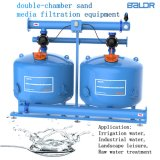 Auto Double-Chamber Quartz Sand Media Filtration Equipment/ Two Cylinder 24 Inch /Irrigation Filter