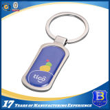 Custom Zinc Alloy Keychain with Epoxy Label (Ele-K030)