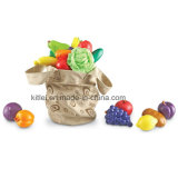 Wholesale Educational Fresh Picked Fruit and Veggie Tote Children Toys