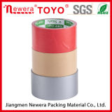 Sigle Sided Red Fibre Cloth Adhesive Rubber Duct Tape
