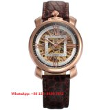 Special Designing Automatic Men′s Watches with Genuine Leather Strap Fs649