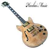 Hanhai Music / Natural Wood Color Electric Guitar (335)