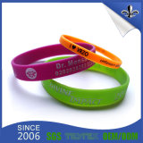 Wholesale Custom Embossed Silicone Rubber Wristband for Promotion