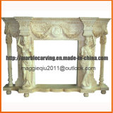 Female Statue Marble Fireplace Mantel Mf1724