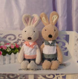 Cute Stuffed Rabbit Plush Toy with Clothes