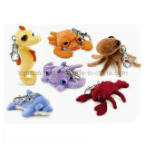 Live Animal Plush Mini Stuffed Animal Keychain Toy for Promotion
