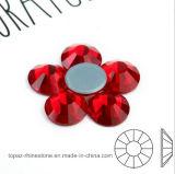 Ss16 4mm Siam Red Crystal Rhinestone Fabric Rhinestone Hotfix Rhinestone (HF-ss16 siam/4A)