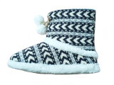 Child′s Warm Soft Kitted Snow Boots for Winter Indoor