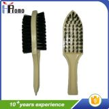 Double Sided Shoe Brush with Wood Handle