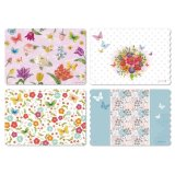 Wildflowers Washable Vinyl Foam Reversible Placemats