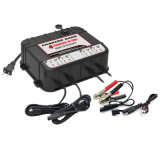 12 Volt 2 AMP Battery Charger with 2 USB Ports - 4 Banks