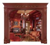 Home Decoration Solid Mahogany Wood Door Jamb Frame Window Moulding (GSP17-007)
