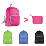 Zipper Close Bag Nylon Folding Backpack for Student
