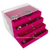Acrylic Jewelry Box with Drawers