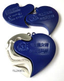 Souvenir Medal with Heart Shape for Lover