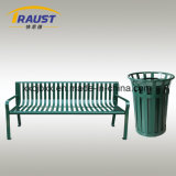 Cold Rolled Steel Material Community Garden Bench, Cast Iron Bench