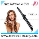 Auto Rotation 1 Inch Hair Curler with Handle-Ergonomic Design and Tourmaline Ceramic Coating Barrel