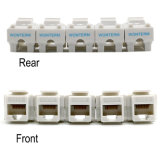 CAT6 / Cat5e RJ45 Keystone Module, Gold Plated Unshielded UTP Keystone Jack