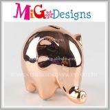 Eletroplate Gold Well-Bred Elephant Ceramic Money Bank