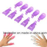 Lowest Price 10PC Plastic Nail Art Soak off Cap Clip UV Gel Polish Gel Nail Polish Remover Wrap
