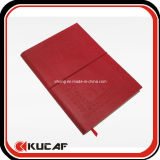 Embossing Logo PU Notebook with Elastic Band