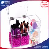 5mm Thick Acrylic Makeup Organizer Case with Rosy Pearl