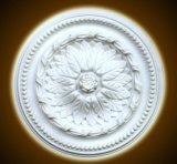 White PU Decorative Ceiling Medallions for Interior Design
