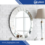 Oval Silver Aluminum Copper Free Faricated Mirror for Wall Decoraiton