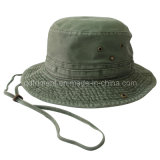 Washed Cotton Canvas Leisure Fisherman Bucket Hat (TMBH2021)