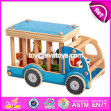 New Design Funny Animals Wooden Toy Trucks for Toddlers W04A335