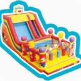 Cheer Amusement Children Funny Face Circus Clown Themed Inflatable Slide