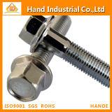 Fastener Stainless Steel Hex Flange Bolt DIN6921