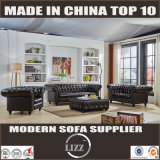 Classic Chesterfield Leather Sofa Lz033