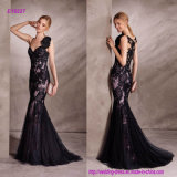 Lace Applique Sweetheart Neckline Mermaid Cocktail Dress with Crystal Tulle Back