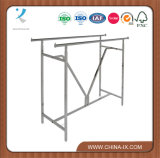 Double Bar H Rack Garment Rack with V Brace