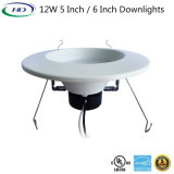 12W 6 Inches Triac Dimmable LED Retrofit Down Light