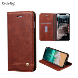 PU Leather Slim Folio Book Magnetic Stand Protective Cover Cases with Credit Card Slots for Apple Iphonex