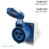 16A, 32A 3pin Industrial Wall Socket