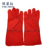 14 Inch Cow Split Genuine Leather Gloves for Welding