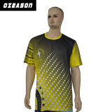 Sublimation Grey Short-Sleeve Fiber T-Shirt