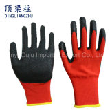 13 Gauge Polyester Safety Glove with Crinkle Latex Coated