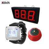 Top Popular Wrist Watch Paging Transmitter Equipment Display Show 1 Group Number K-403+K-300plus+K-M Wireless Call Bell System