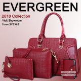 Top Selling PU Bag Set with 4bags for Elegant Women High Quality Ladies Handbags From Guanzhou Factory Sy8563