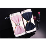 Bow Mirror TPU+Electroplate Case Mobile Phone Case for Samsng S6