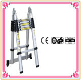 5m Aluminum Alloy Telescopic Ladder for Finger Protection