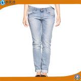 Ladies Fashion Cotton Denim Jeans Basic Blue Pants