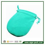 Fresh Good Quality Mint Green Drawstring Velvet Jewelry Bag