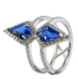 2015 New Fashion Simple AAA Stone Circle Ring Jewelry accessory for Women R10574