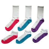 Men Women Color Sports Socks with Microfiber Nylon (ck-01)