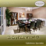 1.8m Green Color Mahogany Solid Dining Set (PA7)